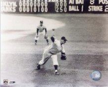Don Larsen Perfect Game Last Pitch New York Yankees 8X10 Photo