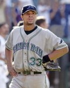 UNKOWN PLAYER (Damien Rolls?) Tampa Bay Devil Rays 8X10 Photo