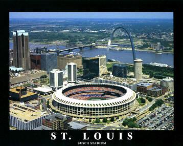 A1 Busch Stadium Aerial St. Louis Cardinals 8X10