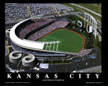 A1 Kauffman Stadium Aerial Kansas City Royals 8X10