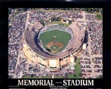 A1 Memorial Stadium Aerial Baltimore Orioles Final Game 8X10