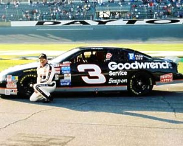 Dale Earnhardt with car at Daytona 8X10 Photo