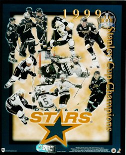 Stars 1999 Dallas Stanley Cup Team Composite 8X10