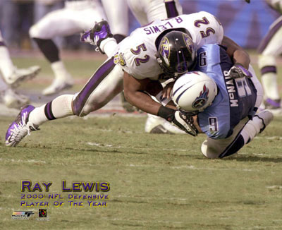 Ray Lewis 2000 Player of The Year Ravens 8X10 Photo