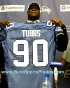 Marcus Tubbs Draft Day Seattle Seahawks 8X10