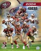 San Francisco 49ers 2004 Team Composite 8X10