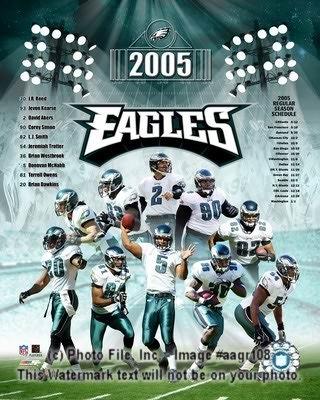 Eagles 2005 Philadelphia Team Composite 8X10