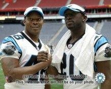 Steven Davis DeShaun Foster Carolina Panthers 8X10