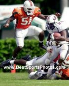 Jonathan Vilma Miami Hurricanes 8X10 Photo
