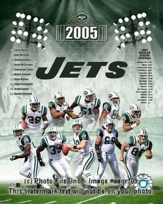 Jets 2005 New York Composite 8X10