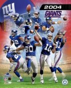 Tiki Barber, Michael Strahan, Jeremy Shockey, Eli Manning Giants 2004 New York Team Composite LIMITED STOCK 8X10 Photo