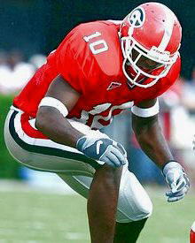 Thomas Davis Georgia Bulldogs College 8X10