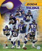 Vikings 2004 Minnesota Team Composite 8X10