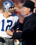 Roger Staubach & Tom Landry 8X10 Photo