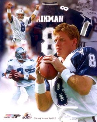 Troy Aikman Legends Dallas Cowboys SATIN 8X10 Photo