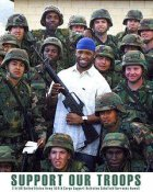 Ahman Green with Soldiers Green Bay Packers 8X10