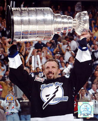 Dave Andreychuk With 2004 Stanley Cup LIMITED STOCK 8x10 Photo