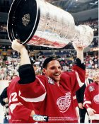 Joe Kocur with Stanley Cup Detroit 1997 Red Wings 8x10 Photo