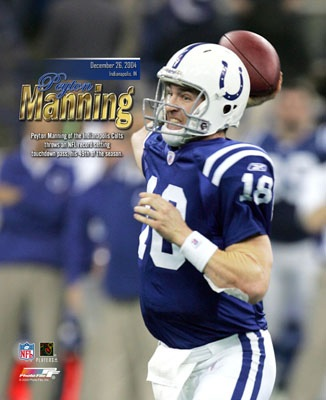 Peyton Manning Season TD Record LIMITED STOCK Indianapolis Colts 8X10 Photo