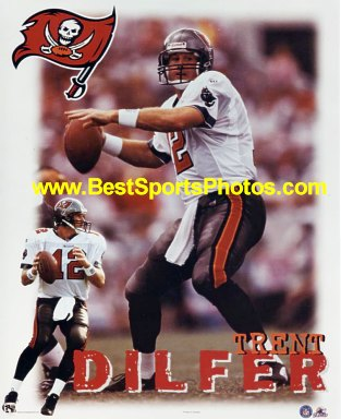 Trent Dilfer LIMITED STOCK Tampa Bay Buccaneers 8X10 Photo