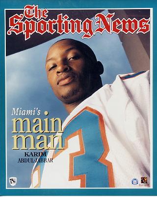 Karim Abdul-Jabbar 1 Miami Dolphins 8X10 Photo