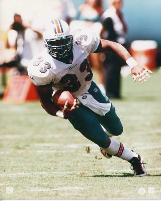 Karim Abdul-Jabbar 3 Miami Dolphins 8X10 Photo