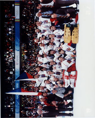 Nagano Czech Team NHL Olympic 8x10 Photos