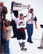 Joe Sakic with Cup 2001 Stanley Cup 8x10 Photo