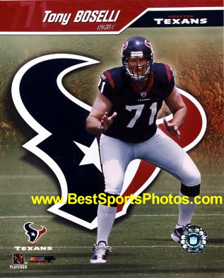 Tony Boselli Houston Texans 8X10 Photo