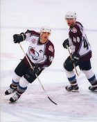 Joe Sakic and Alex Tanguay 2001 Stanley Cup 8x10 Photo