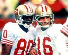 Joe Montana & Jerry Rice 49ers 8X10 Photo LIMITED STOCK