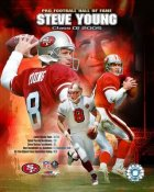 Steve Young HOF Composite 49ers 8X10 Photo