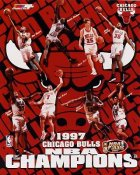 Steve Kerr, Jason Caffey, Luc Longley, Brian Williams, Toni Kukoc, Scottie Pippen, Ron Harper, Dennis Rodman 1997 Champions Chicago Bulls LIMITED STOCK 8X10 Photo