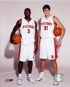 Wallace Milicic Detriot Pistons 8X10 Photo LIMITED STOCK