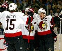 Dany Heatley and Daniel Alfredsson Ottawa Senators 8x10 Photo