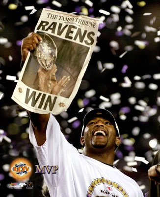 Ray Lewis MVP Ravens SB35 SATIN 8x10 Photo