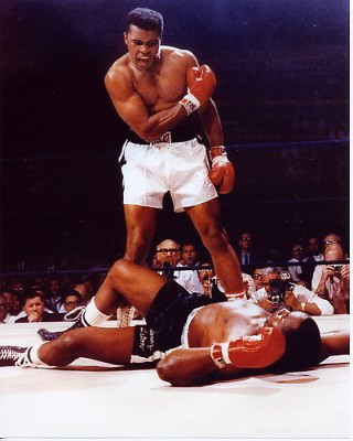 Muhammad Ali vs. Sonny Liston 8x10 Photo
