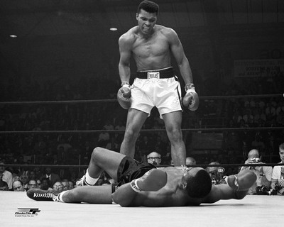 Muhammad Ali vs Liston BW SATIN LIMITED STOCK 8x10 Photo