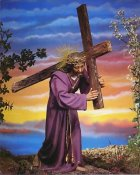 Christ with Cross 8x10 Photo