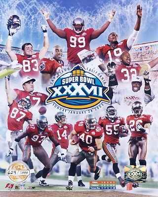 Limited Edition Tampa Bay Bucs Super Bowl XXXVII Champs 8X10 Photo