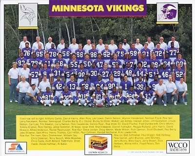 Vikings 1988 Team 8x10 Photo  Rich Gannon, Joey Browner, Randall McDaniel, Tommy Kramer, Ray Berry etc