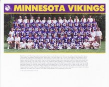 Vikings 1991 Team 8X10 Photo  Craig Wolfley - Hershel Walker - John Randle - Joey Browner Etc.
