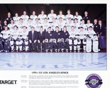Kings 1991-92 LIMITED STOCK Los Angeles Kings Team 8.5x11 Photo