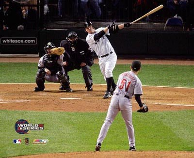 Joe Crede Home Run 2005 World Series 8x10 Photo Game 1  LIMITED STOCK