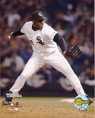 Jose Contreras LIMITED STOCK White Sox 2005 World Series 8x10 Photo Game 1