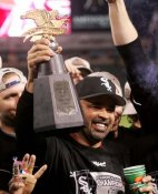 Ozzie Guillen 2005 ALCS Trophy LIMITED STOCK Chicago White Sox 8x10 Photo