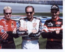 Dale Earnhardt Sr. w/ Jr. and Kerry 8X10 Photo
