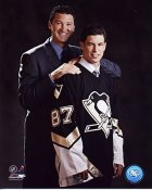 Mario Lemieux & Sidney Crosby Penguins  8x10 Photo LIMITED STOCK