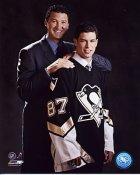 Mario Lemieux & Sidney Crosby Penguins  8x10 Photo LIMITED STOCK