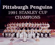 Penguins 1991 Stanley Cup Champs Team 8x10 Photo